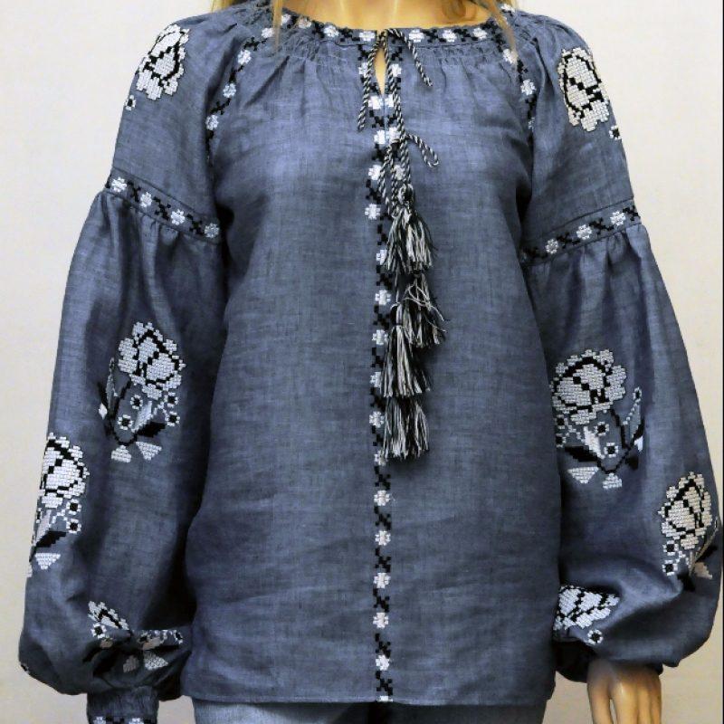 Неймовірна вишита сорочка на льоні