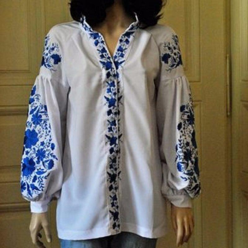 Жіноча вишита блузка з вишивкою на рукавах - Каталог рукоділля  103530 12c7caa8f7d86