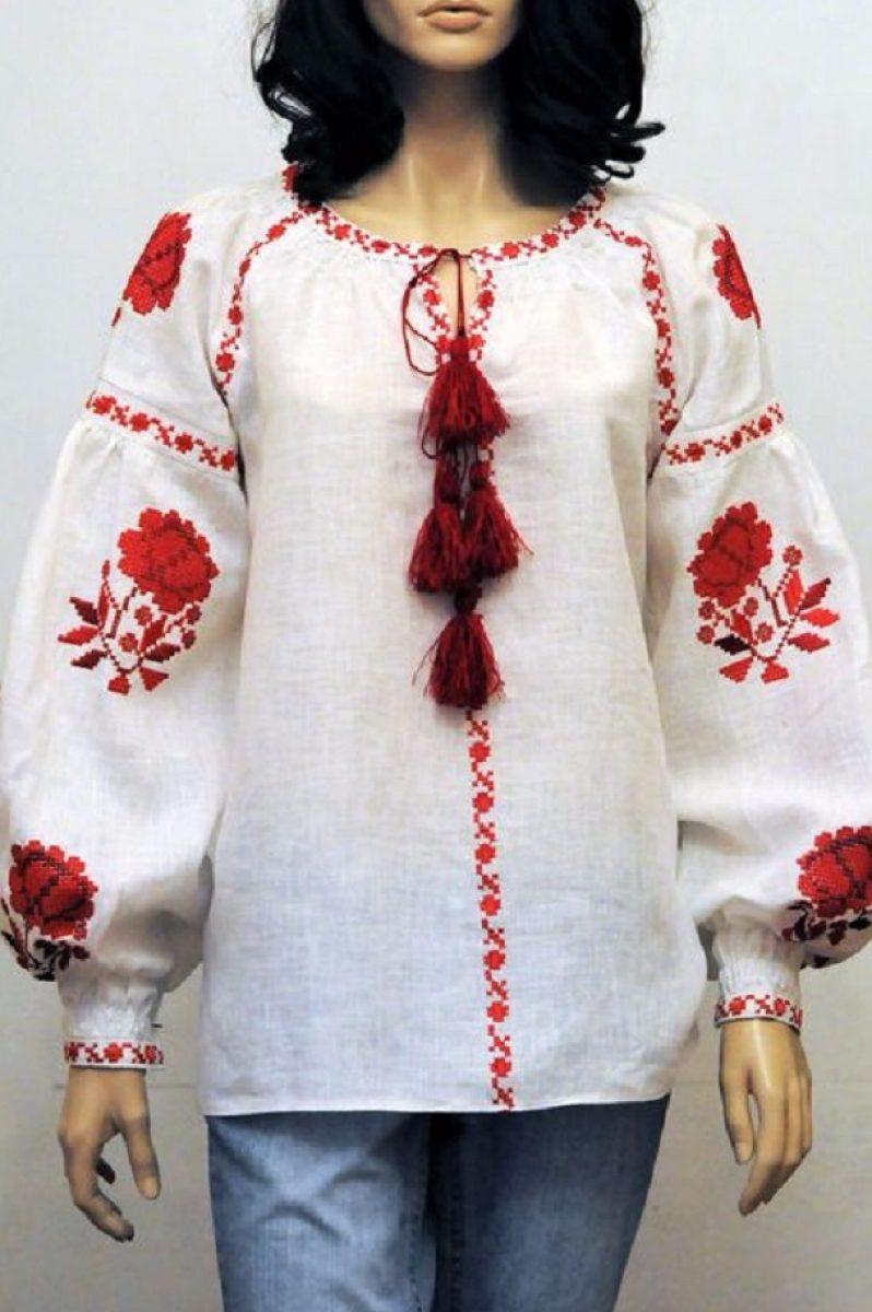 Вишита блузка з трояндами вишиванка бохо стиль - Каталог рукоділля  103652 b362a2edd047c