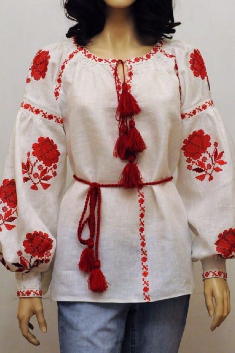 Вишита блузка з трояндами вишиванка бохо стиль - Каталог рукоділля ... e2b860573c3e5