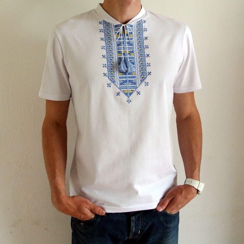 Біла футболка вишиванка Вишивка Гетьмана Полуботка - Каталог рукоділля   115548 47e15fd848c6f