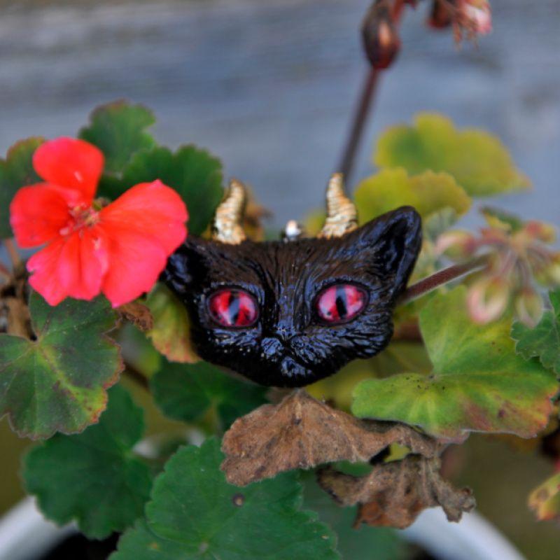 Містичний кіт кулон  - Каталог рукоділля #174679