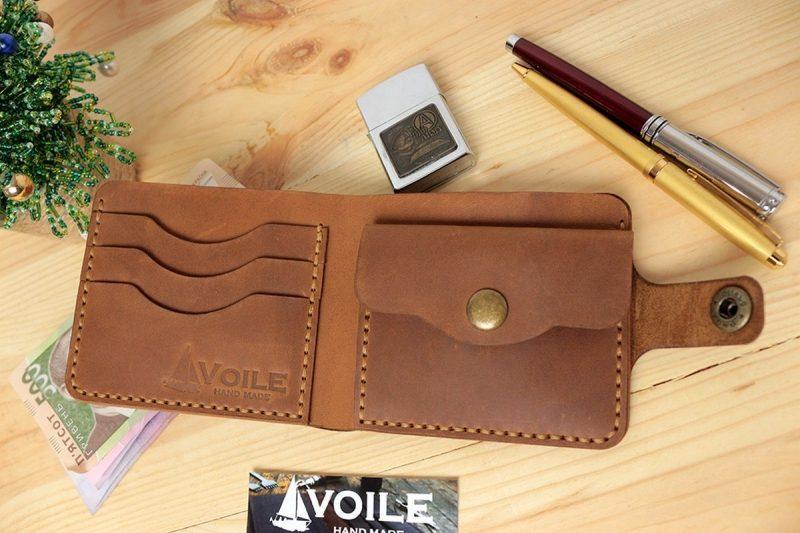 7168db6cc8df мужской кожаный кошелек ручной работы Voile Vl Cw1 Lbrn Tbc