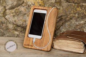 Робота Аксессуар Из Дерева Подставка Для iPhone Подарок  На Стол