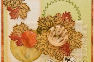 Листівка з осіннім листям