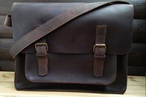 Кожаная сумка. Сумка для ноутбука.
