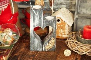 подсвечники сердце - Опис
