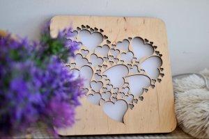 Подарок любимому человеку - ночник из дерева - Опис