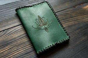 Обгортка на паспорт з ельфійським плющем - Опис