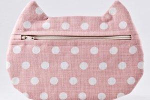 Косметичка кошка в горошек, розовая косметичка - ІНШІ РОБОТИ