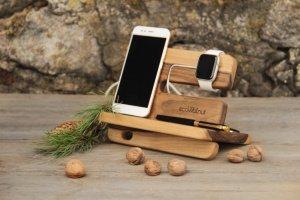 Робота Подставки Для Телефонов Часов iWatch Apple iPhone Из Дерева