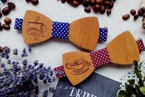 Деревянный галстук бабочка Coffee timе - ІНШІ РОБОТИ
