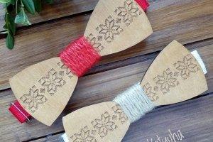 Робота Деревянный галстук бабочка этно стиль