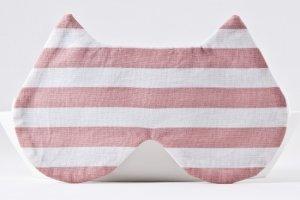 Робота Маска для сна кошка в полоску, розовая маска для сна