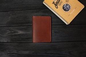 Обложка для паспорта из кожи Краст VOILE pc1-kcog-lbrn