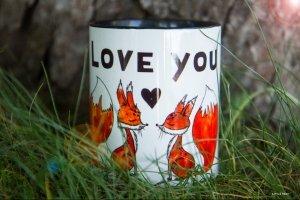 """Чашка з авторською ілюстрацією """"Foxes"""" - Опис"""
