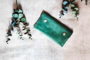 Робота Кожаный кошелек green