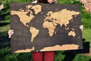 Карта мира. World map. - Опис