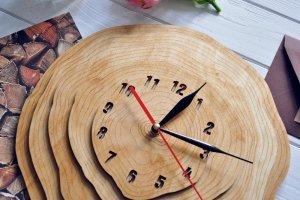 """Настенные часы """"Wooden circles"""" - ІНШІ РОБОТИ"""