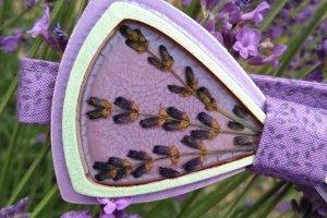 WOODEN BOW TIE/ Метелик з квітами лаванди - ІНШІ РОБОТИ