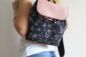 """Рюкзак """"Pink flowers"""" текстиль рожеве золото  - ІНШІ РОБОТИ"""