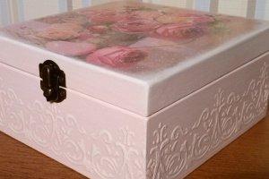 шкатулка букет роз - Опис