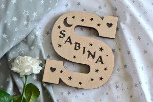 Робота Ночник под заказ с именем - Sabina