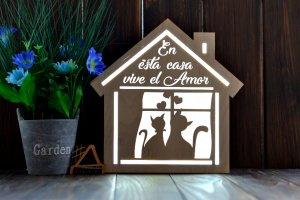 Робота Деревянный светильник под заказ на испанском языке