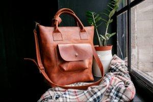 Робота Шкіряна сумка для ноутбука, сумка для документів, шоппер
