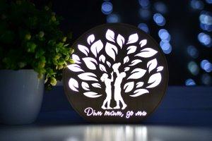 """Ночник из дерева для всей семьи - """"Дім там, де ми"""" - ДРУГИЕ РАБОТЫ"""