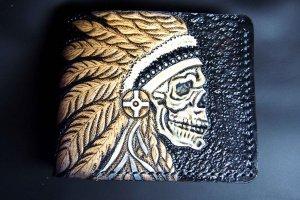 Кожаный кошелек Вожак племени - Опис