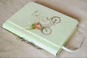 """Работа Блокнот """"Цветочный велосипед"""""""