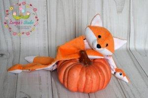 Лисичка - игрушка комфортер, куски, обнимашка, сплюшка.  - ІНШІ РОБОТИ