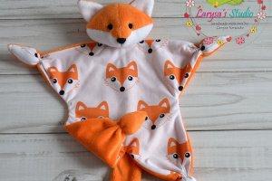Лисичка - игрушка комфортер, куски, обнимашка, сплюшка.  - Опис