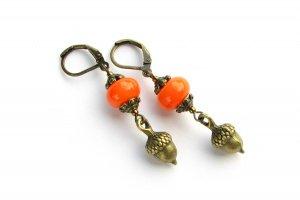 Серьги ′Желуди′ оранжевые - ІНШІ РОБОТИ