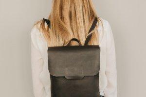 Робота Рюкзак FLAT, Рюкзак женский кожаный