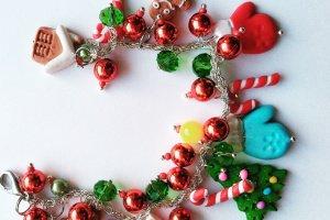 Новогодний браслет Пряничный домик - ІНШІ РОБОТИ