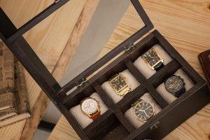 Робота Дерев'яна шкатулка для зберігання годин Hetch DS2