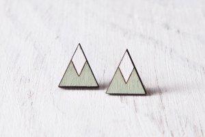 Робота Мятные треугольники серьги гвоздики
