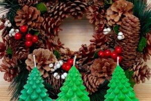 Новогодняя свеча Елочка  - ІНШІ РОБОТИ