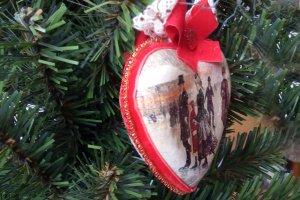 Новогоднее украшение «Винтажное сердце»  - Опис