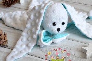Бирюзовый зайка - комфортер для малышей - ІНШІ РОБОТИ