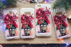 """Чехол на мобильный телефон """"Пуансетия"""" (Рождество) - ІНШІ РОБОТИ"""