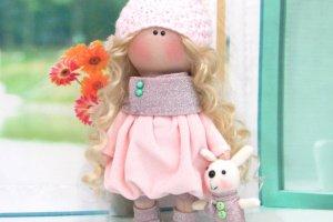 Робота Текстильная кукла Зайка