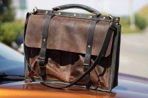 Мужской стильный кожаный портфель - ІНШІ РОБОТИ