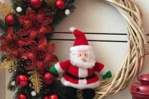 новорічний вінок на двері - ІНШІ РОБОТИ