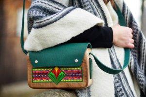 """Жіноча дерев'яна сумка """"Різдвяні вогники"""" - ІНШІ РОБОТИ"""