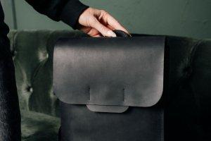 Рюкзак из кожи Flat - Опис