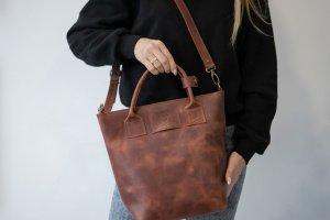 Сумка-шоппер B-Bag из кож CrazyHorse - ІНШІ РОБОТИ