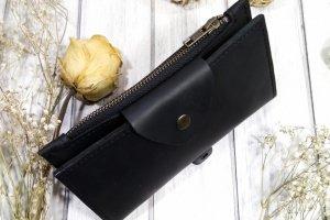 Кожаный кошелек черного цвета - ІНШІ РОБОТИ